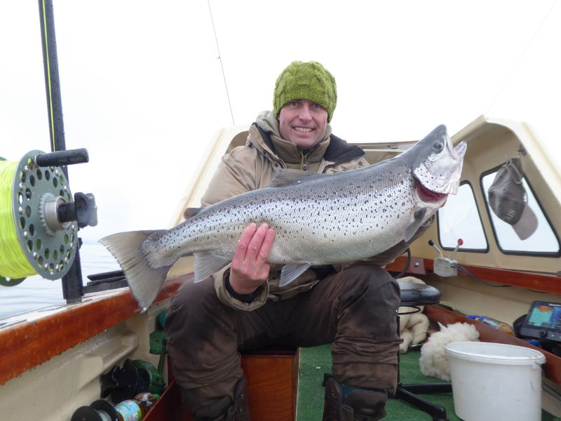 Thomas mit Seeforelle 83cm 6,7kg
